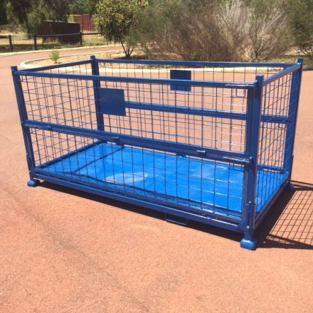 Collapsible Steel Storage Cage Double