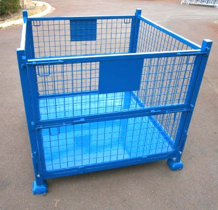 Collapsible Steel Storage Cage Single